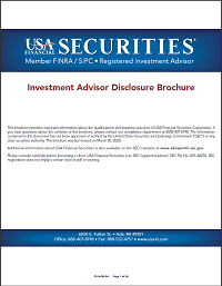 USA Financial Securities Investment Advisor Disclosure Brochure